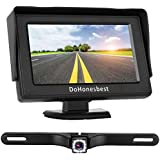 Dohonesbest Backup Camera And 43 Lcd Monitor Kit For Carssuvtruck Single Power Wire Whole System Fulltimerear View Optional Reverse Camera Ip68 Waterproof Night Vision Guide Lines