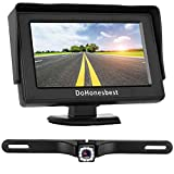 Dohonesbest Backup Camera and 4.3″ LCD Monitor Kit for Cars/SUV/Truck Single Power Wire Whole System Fulltime/Rear View Optional Reverse Camera IP68 Waterproof Night Vision Guide Lines Review