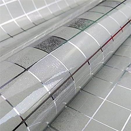 Daorier Autocollants Papier Peint Cuisine Stickers Carrelage Cuisine Salle de Bain Balcon D/écoration Autocollant Dhuile Mosa/ïque 1m Blanc