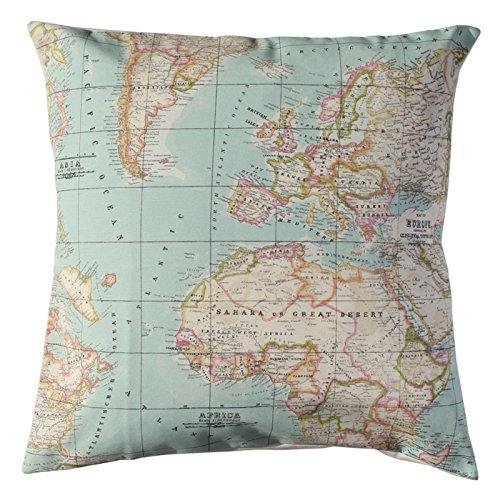Funda cojin Mapa - cojin marinero - cojin cama - tela mapa ...
