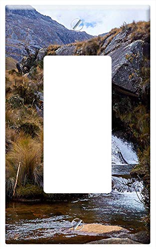 Cordillera One Light - Switch Plate Single Rocker/GFCI - Peru Mountains Mountain River Wildlife Cordilleras