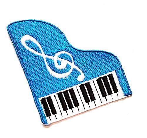 2.5'' X 2.2'' Pretty Cute Blue Piano Music Note