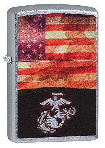Zippo Flag & Marine Pocket Lighter, Street - State Chicago Street Stores