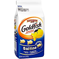 Pepperidge Farm Goldfish Crackers, Saltine, 6.6 Ounce (Pack of 24)