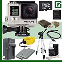 GoPro HERO4 BLACK 4K Action Camera + 16GB Greens Camera Bundle 2