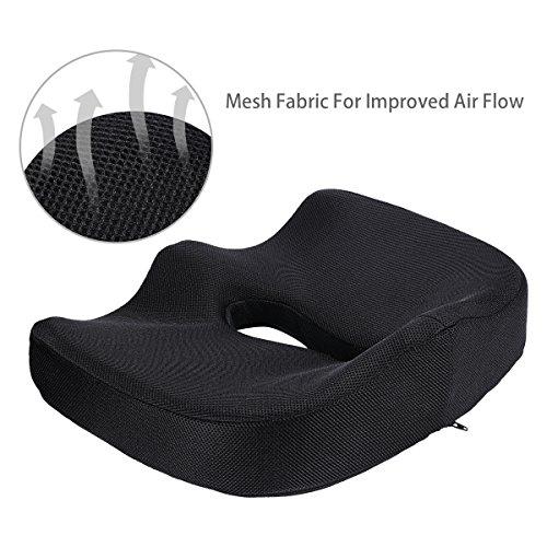 Seat Cushion,Comfort Memory Foam Seat Cushion C...