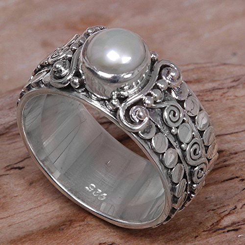 NOVICA Cultured Freshwater Pearl .925 Silver Ring