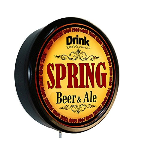 Spring Ale - SPRING Beer and Ale Cerveza Lighted Wall Sign