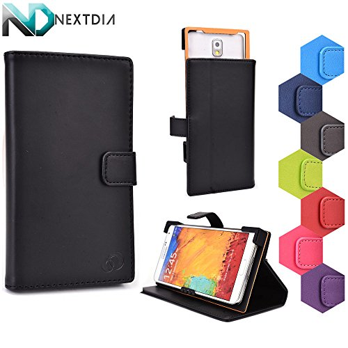 Pantech Vega R3 IM-A850L Case Stand with Quick Camera Access | Bane Black + NEXTDIA Velcro Cable Tie