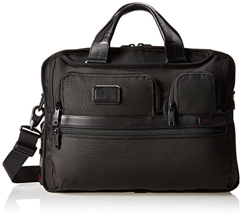 Tumi Alpha 2 T-Pass Medium Screen Laptop Slim Brief, Black, One (Medium Laptop Brief)