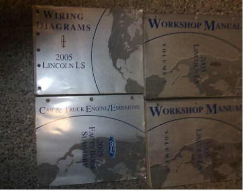 2005 ford lincoln ls l s service shop repair manual set oem 05 factory  books (2 volume set, and the wiring diagrams manual) paperback – 2005