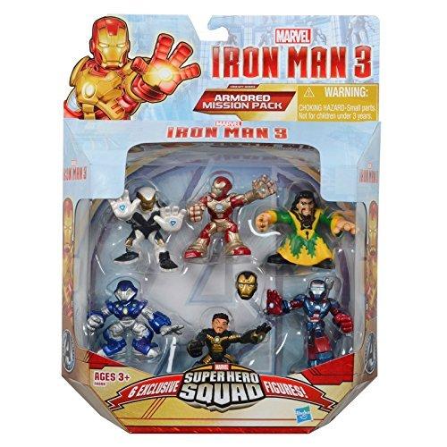 Super Hero Squad, Iron Man 3 Exclusive Figure Set, (Iron Man Mark 42, Ghost Armor, Deep Depth, Rapid Deploy, Iron Patriot & Mandarin), 6-pack by SportsMarket ()