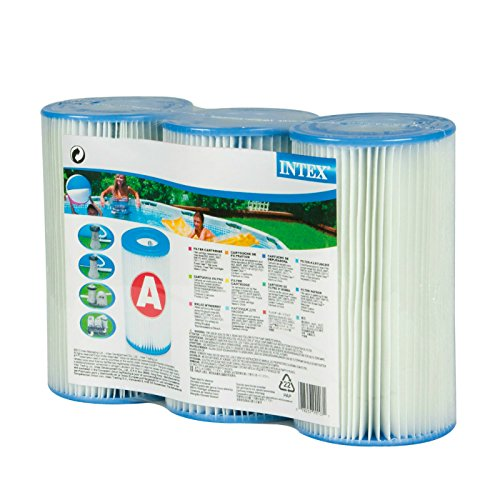 Intex Type A Filter Cartridge for Pools, Three Pack by Intex