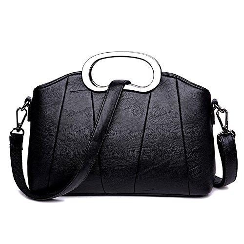 Meaeo Moda Moda Bolso Bolso Bolso Simple Nuevo Paquete Xiekua Delicado,Negro black