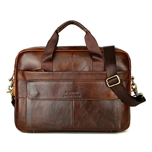 Clearance!Todaies Men Leather Messenger Shoulder Bags Business Work Briefcase Laptop Bag Handbag 2018 (38cm(L)7cm(W)27cm(H), Brown)
