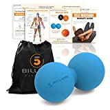 5BILLION Double Massage Ball - Therapy Peanut Ball, Stress Ball & Double Lacrosse Ball - Deep Tissue Massage Tool for Back, Foot, Neck