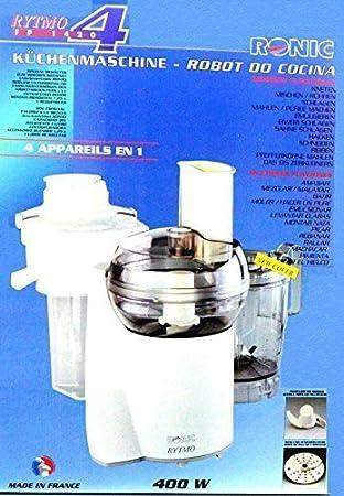 Original Ronic Rytmo - Robot de cocina con accesorio de exprimidor, accesorio de batidora y muchos más (400 W): Amazon.es: Hogar