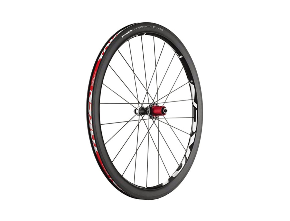 Token Products Hero C45 Full Carbon Clincher Road Wheelset (Campagnolo Cassette), Wheel Size : 700cm