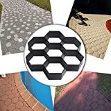 lovely patio design with pavers ideas COM4SPORT DIY Patio Walk Maker Stepping Stone Concrete Paver Mold Reusable Path Maker Mold Garden Paving Stone Molds 11.4x11.4 Inch (Hexagon)