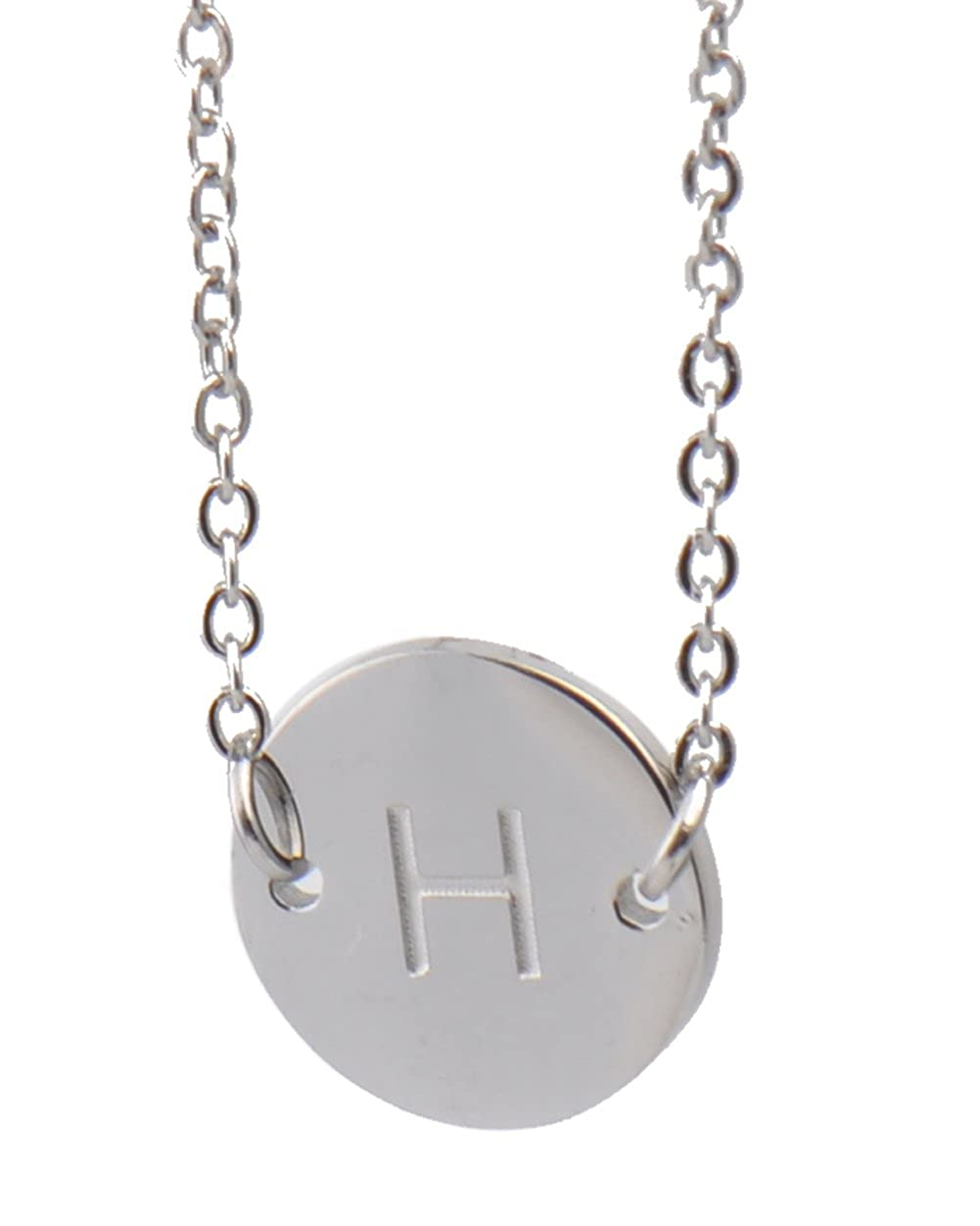 LikeFun Stainless Steel Danity Bracelet Initial H Thin Chain Silver Jewelry Friendship Gifts