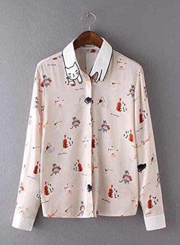 Futurino - Camisas - con botones - para mujer Beige