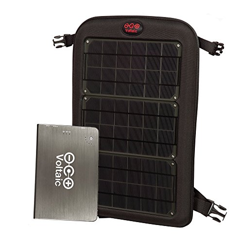 Price comparison product image Voltaic Systems Fuse 10 Watt Rapid Solar Charger for Laptops | Includes a Battery Pack (Power Bank) and 2 Year Warranty | Powers Laptops Including Apple MacBook, Phones, USB Devices and More - Charcoal