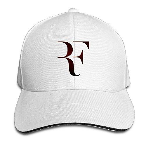 HmkoLo Roger Federer Sandwich Baseball Caps For Unisex Adjustable White