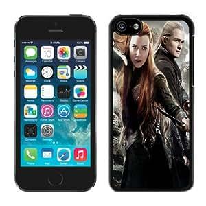 Popular Design Tauriel-and-Legolas-In-The-Hobbit-2 Black Customized iPhone 5C Phone Case