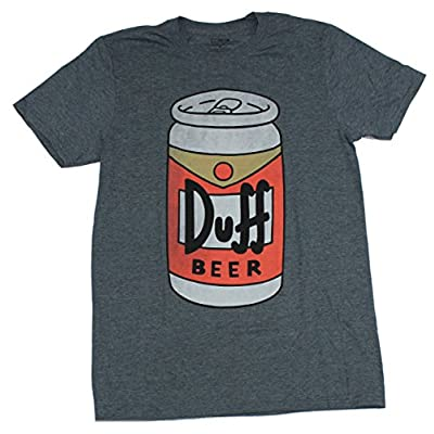 The Simpsons Mens Simpsons Duff Beer T-Shirt – Iconic Brew of Moe's Tavern Graphic T-Shirt