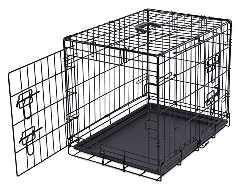 Internets-Best-Wire-Dog-Kennel-Double-Door-Metal-Steel-Crates-Indoor-Outdoor-Pet-Home-Folding-and-Collapsible-Cage