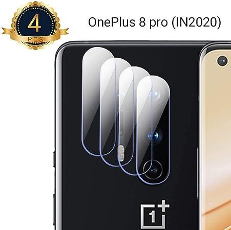 QITAYO [4 Pack Protector de Lente de Cámara para Oneplus 8 Pro, [Estuche Amigable] [Alta Definición] [Resistente a Rayones] Cristal Templado Oneplus 8 Pro: Amazon.es: Electrónica