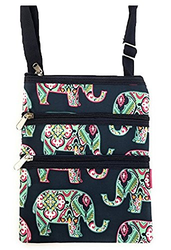 Print Bag Fabric (NGIL Small Hipster Cross-Body Bag Collection (Navy Elephant))