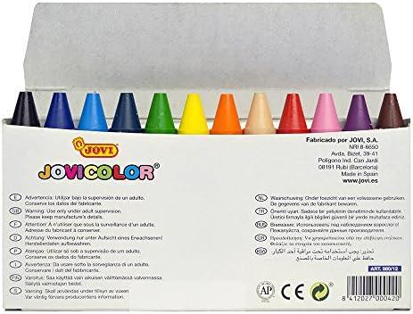 Jovicolor 980 - Ceras, caja de 12 unidades: Amazon.es: Oficina y papelería