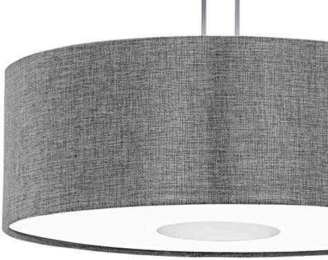EGLO ROMAO Hängeleuchte, Stahl, 15.5 W, nickel-matt, chrom