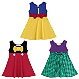 FYMNSI Little Girls Princess Halloween Snow White Belle Minnie Ariel Mermaid Cartoon Costume Birthday Tutu Dress Up Outfit