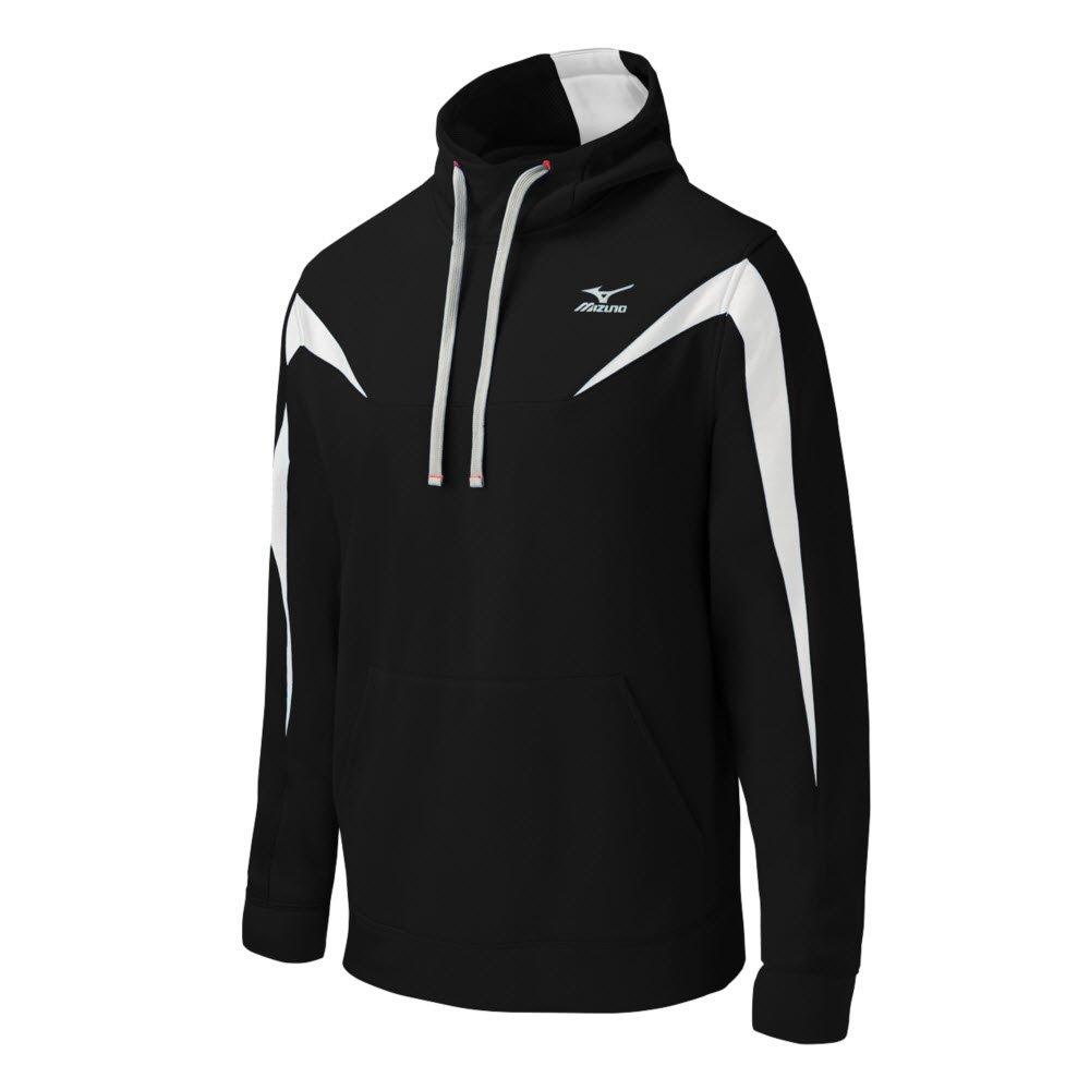 Mizuno Elite Thermal Hoodie B014QOQ9PA Medium|ブラック/ホワイト ブラック/ホワイト Medium