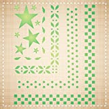 BORDERS STENCIL (size: 5''w x 6''h) Reusable Stencils for Painting - Best Quality Wall Art Decor Ideas - Use for SCRAPBOOKING, Walls, Floors, Fabrics, Glass, Wood, Cards, and More…