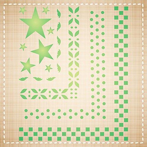 BORDERS STENCIL (size: 5''w x 6''h) Reusable Stencils for Painting - Best Quality Wall Art Decor Ideas - Use for SCRAPBOOKING, Walls, Floors, Fabrics, Glass, Wood, Cards, and More… by Stencils for Walls