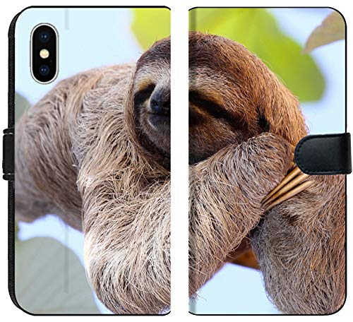 Apple iPhone X Flip Fabric Wallet Case Image ID 35577251 Happy Sloth