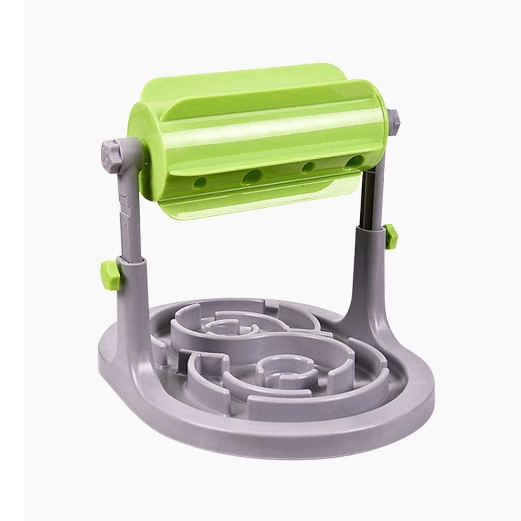 Xinxinchaoshi Slow Feeder Dog Bowl, Fun Interactive Feeder Slow Feed Prevents Flatulence Dog Bowl (Green)