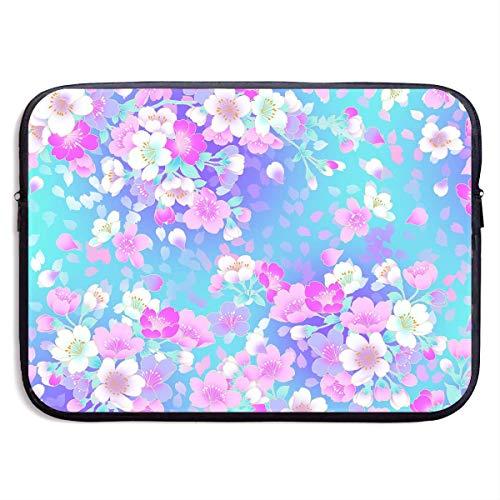 CHJOO Laptop Sleeve Bag Beautiful Floral Resolution Art 13/1