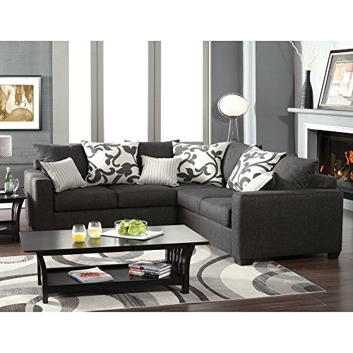 Furniture of America Lleida 2-Piece Fabric Sectional Sofa