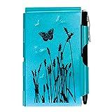 Wellspring Flip Note, Natural Elements Blue Butterfly (FlipNote-BlueButterfly)
