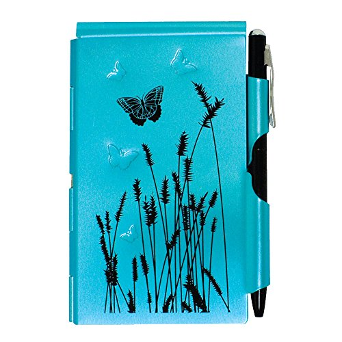 Wellspring Flip Note, Natural Elements Blue Butterfly (FlipNote-BlueButterfly) (Wellspring Flip Note Pen Refills)
