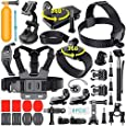 Adofys 42 in 1 Action Camera Accessories Kit Compatible for GoPro, Sony Action Cam, Nikon, Garmin, Ricoh Action Cam, SJCAM, iPhone and Android | Epic Photo Shooting (42 in 1)