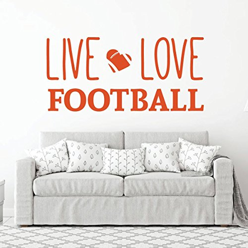 Live Love Football Wall Decal - Vinyl Art Sticker for Bedroom, Home Decor, Playroom or Game Room Decoration by CustomVinylDecor (Image #5)