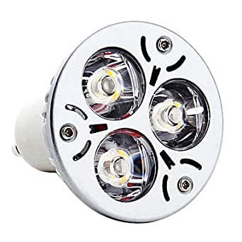 Luces Dirigidas (Blanco cálido GU10 3 W 300 lm- AC 85-265 V- 5 piezas