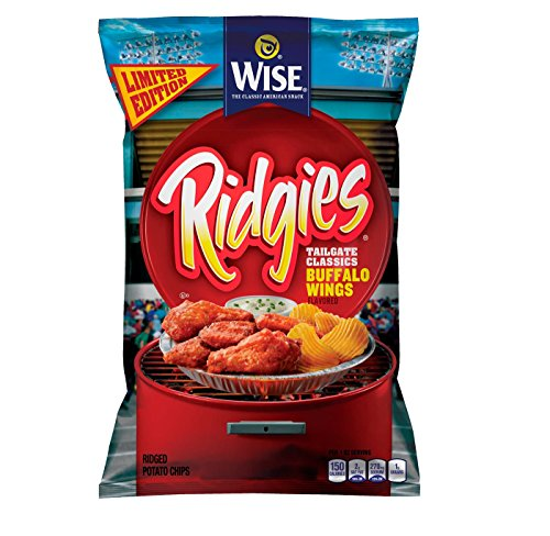 Wise Ridgies Tailgate Classics Buffalo Wings Flavored Potato Chips 8 25Oz  Pack Of 1