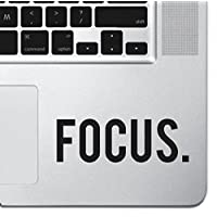 "Focus Sticker Decal MacBook Pro Air 13"" 15"" 17"" Keyboard Keypad Mousepad Trackpad Laptop Retro Vintage Motivational Text Quote Laptop Sticker iPad Sticker Inspirational Sticker"