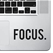 "Focus Sticker Decal MacBook Pro Air 13"" 15"" 17"" Keyboard Keypad Mousepad Trackpad Laptop Retro Vintage Motivational Text Quote Laptop Sticker iPad Sticker Inspirational Sticker"
